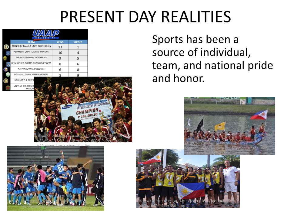 PRESENT DAY REALITIES And has also been an experience of...