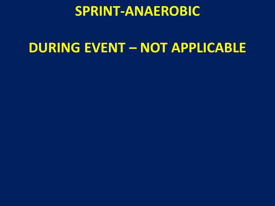 SPRINT-ANAEROBIC DURING EVENT – NOT APPLICABLE