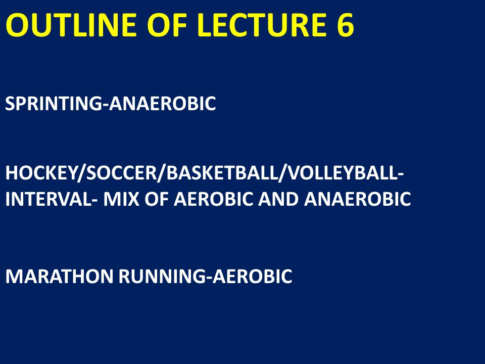 OUTLINE OF LECTURE 6 EACH OF THE ABOVE SPORTS DISCUSSED IN TERMS OF: TRAINING PRE-EVENT DURING EVENT (IF APPLICABLE) AND POST-EVENT NUTRITON
