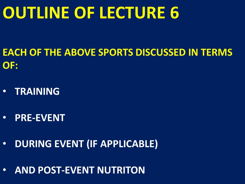 SUMMARY OF LECTURE 6 DEFINITIONS- ANAEROBIC, INTERVAL AND AEROBIC METABOLISM ATHLETIC SUCCESS