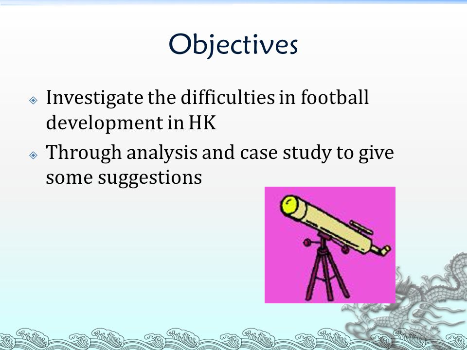  Do not provide good future development Seldom link up with HK football team and the First Division League of HK Affect the quality of HK professional football player