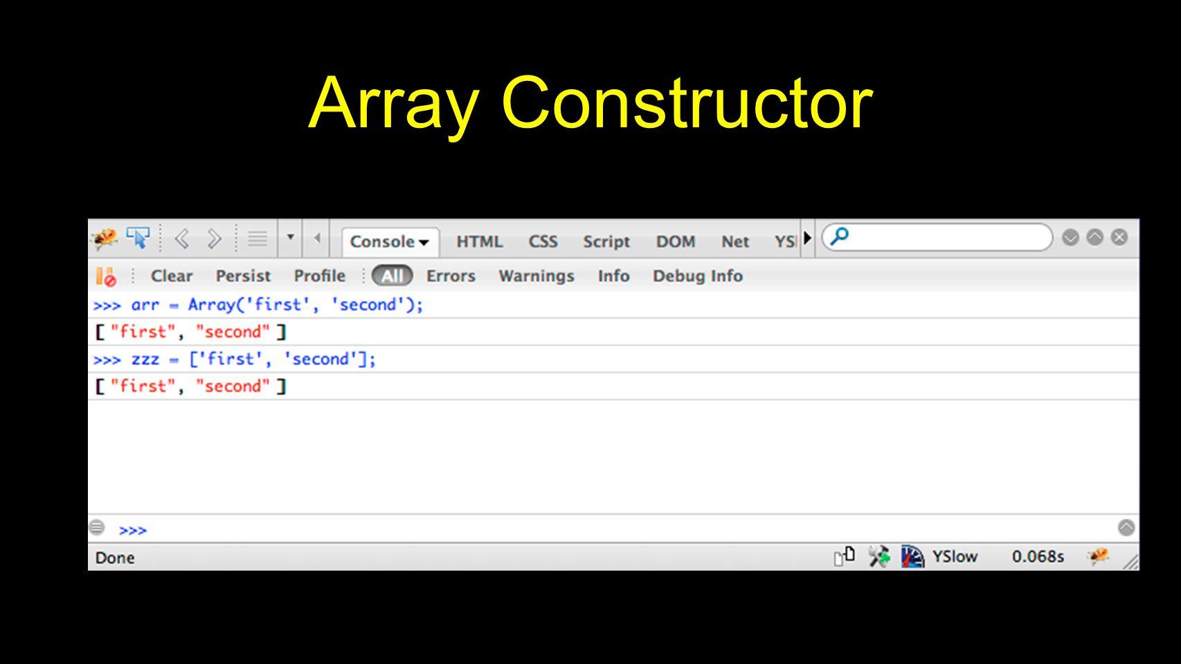 Array Constructor