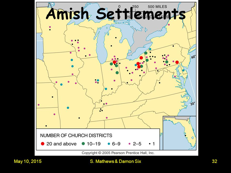 May 10, 2015S. Mathews & Damon Six32 Amish Settlements