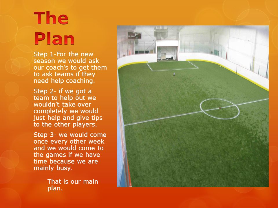 Step 1-For the new season we would ask our coach's to get them to ask teams if they need help coaching.
