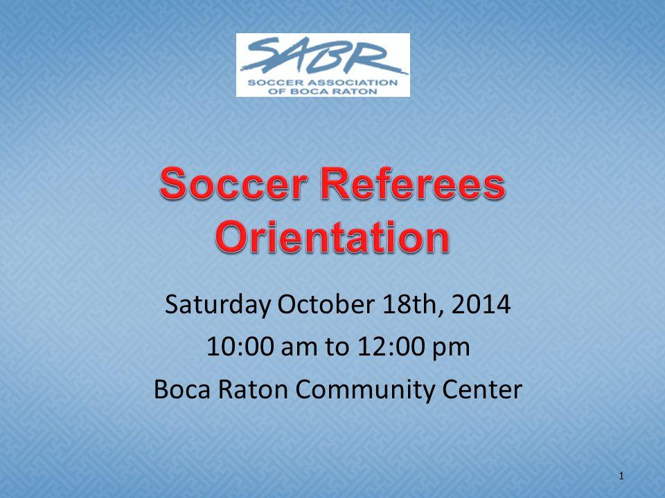 Saturday October 18th, 2014 10:00 am to 12:00 pm Boca Raton Community Center 1