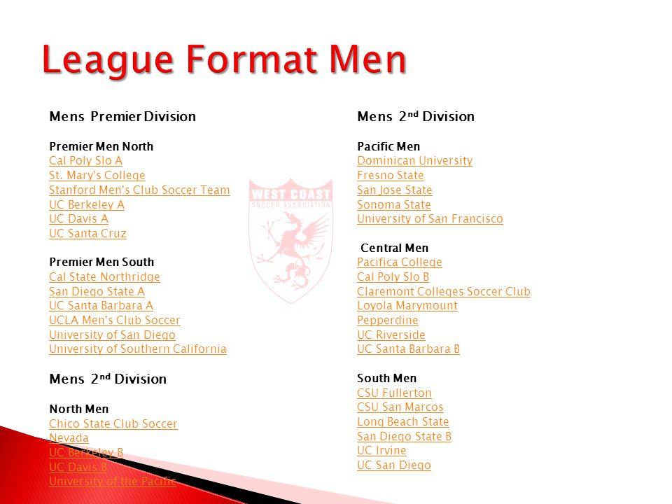 Mens Premier Division Premier Men North Cal Poly Slo A St.