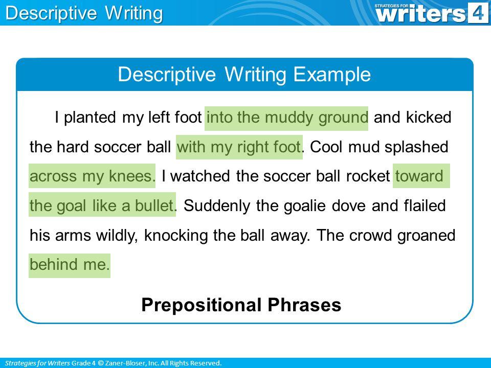 Strategies for Writers Grade 4 © Zaner-Bloser, Inc.