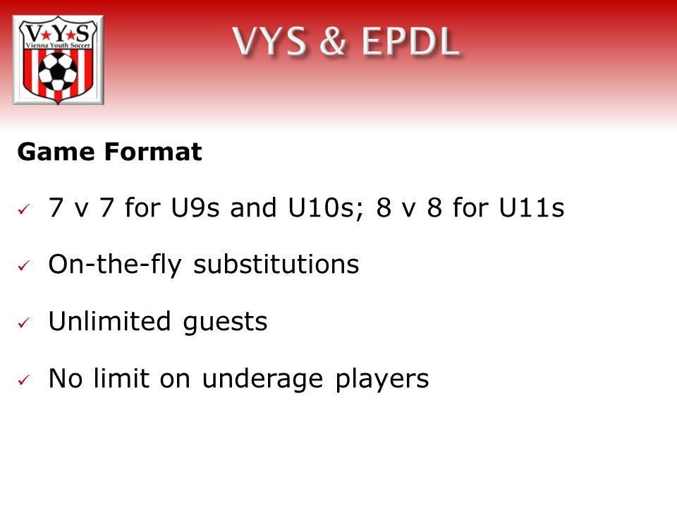 Player Movement In order to play in the EPDL, players must be registered with US Club Soccer.