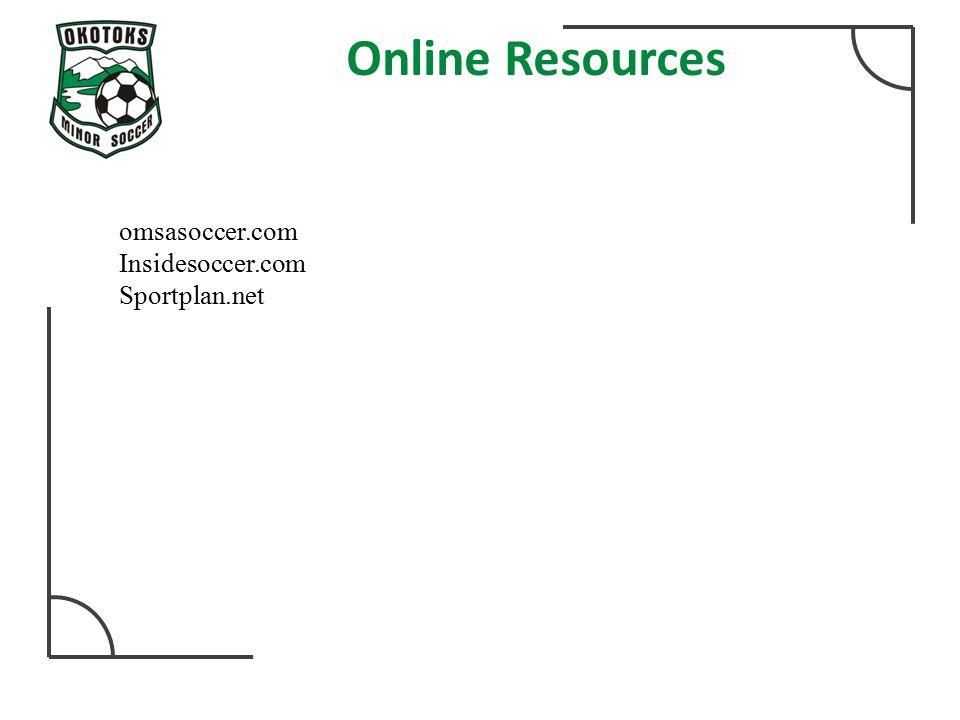 Online Resources omsasoccer.com Insidesoccer.com Sportplan.net