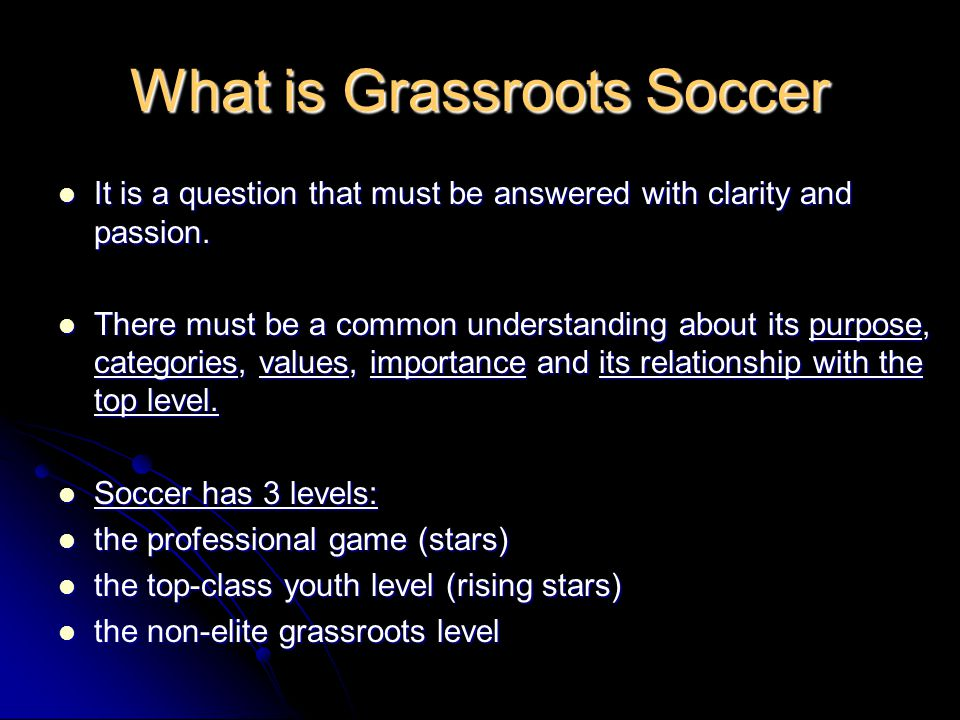 What is Grassroots Soccer It is a question that must be answered with clarity and passion.