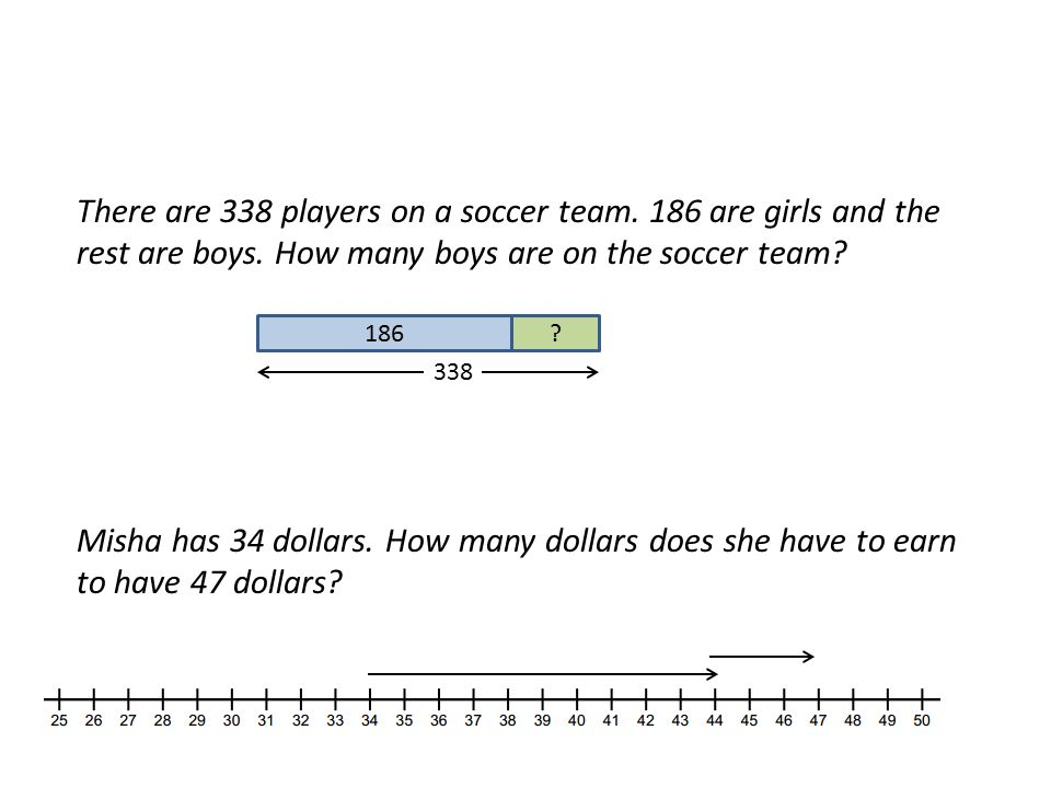 There are 338 players on a soccer team.186 are girls and the rest are boys.