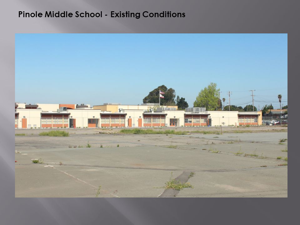 Pinole Middle School - Existing Conditions