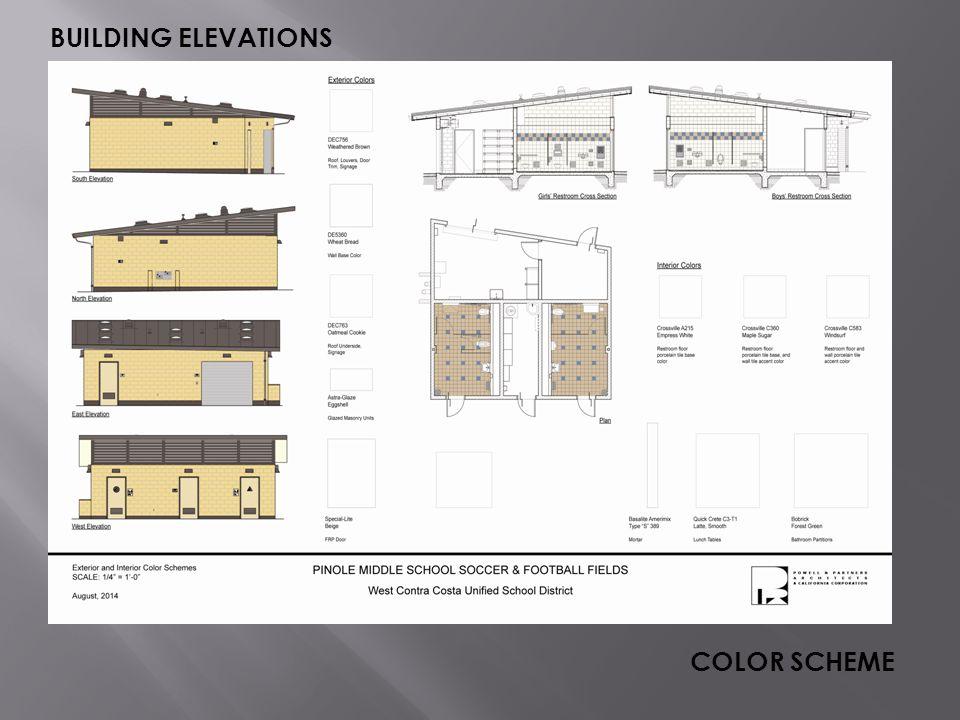 BUILDING ELEVATIONS COLOR SCHEME