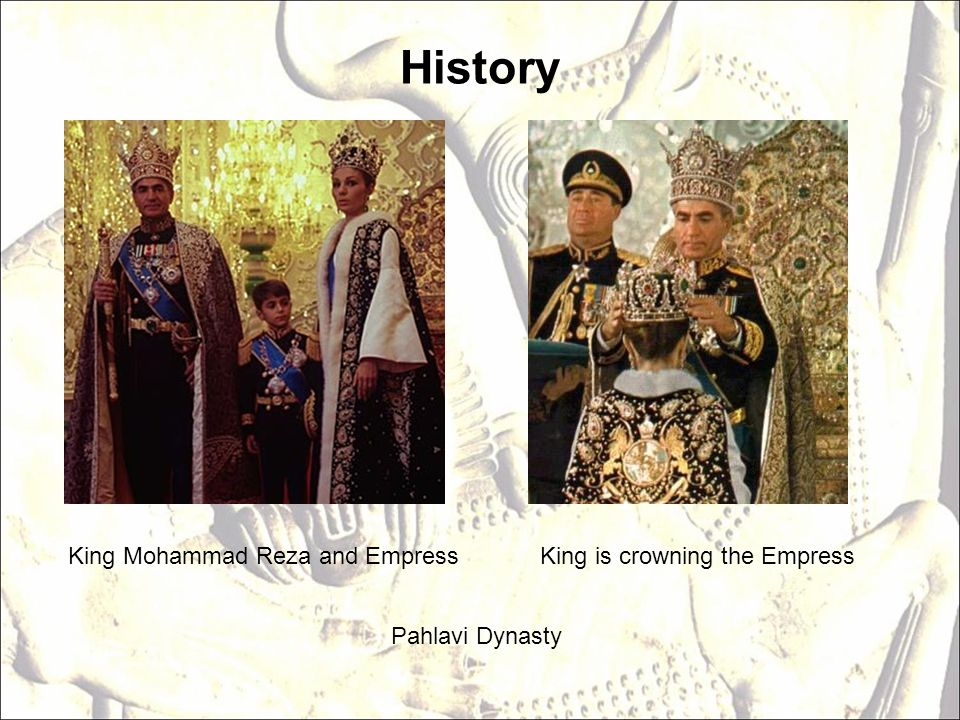 History King Mohammad Reza and EmpressKing is crowning the Empress Pahlavi Dynasty