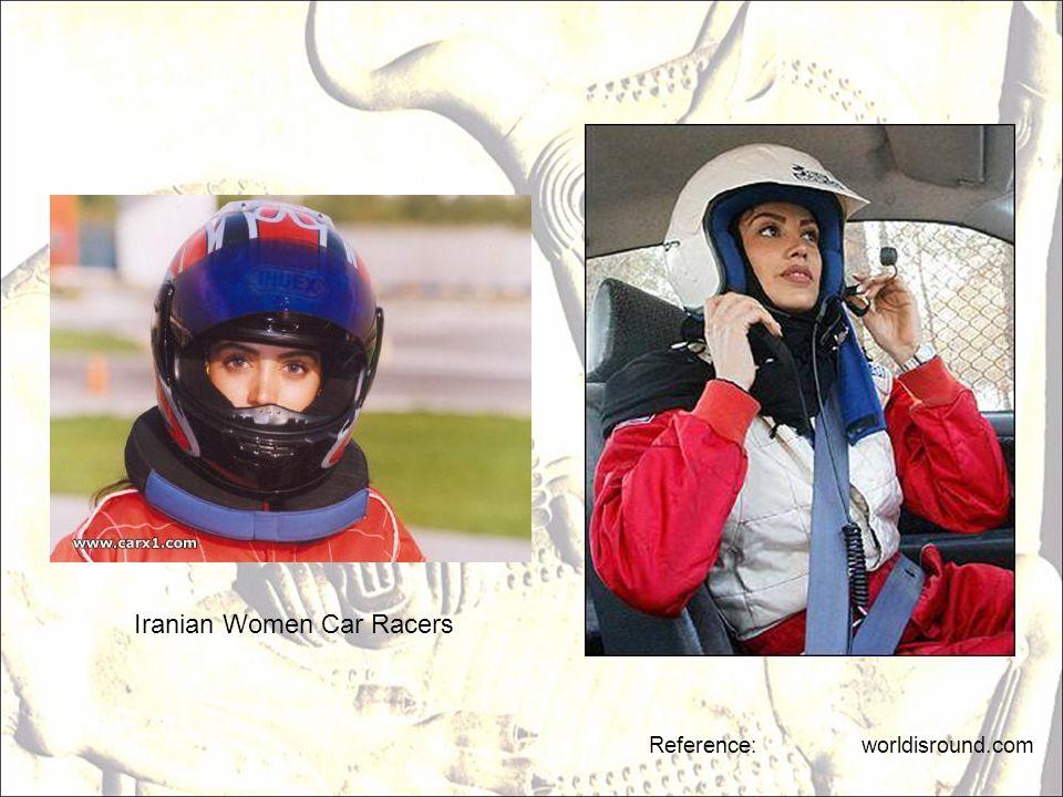 Reference: worldisround.com Iranian Women Car Racers