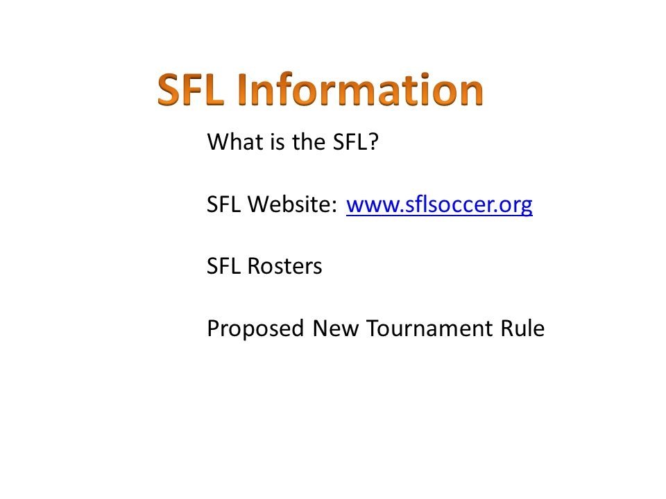 What is the SFL.