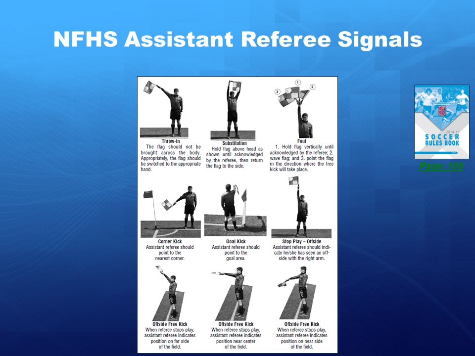 NFHS Assistant Referee Signals Page: 109