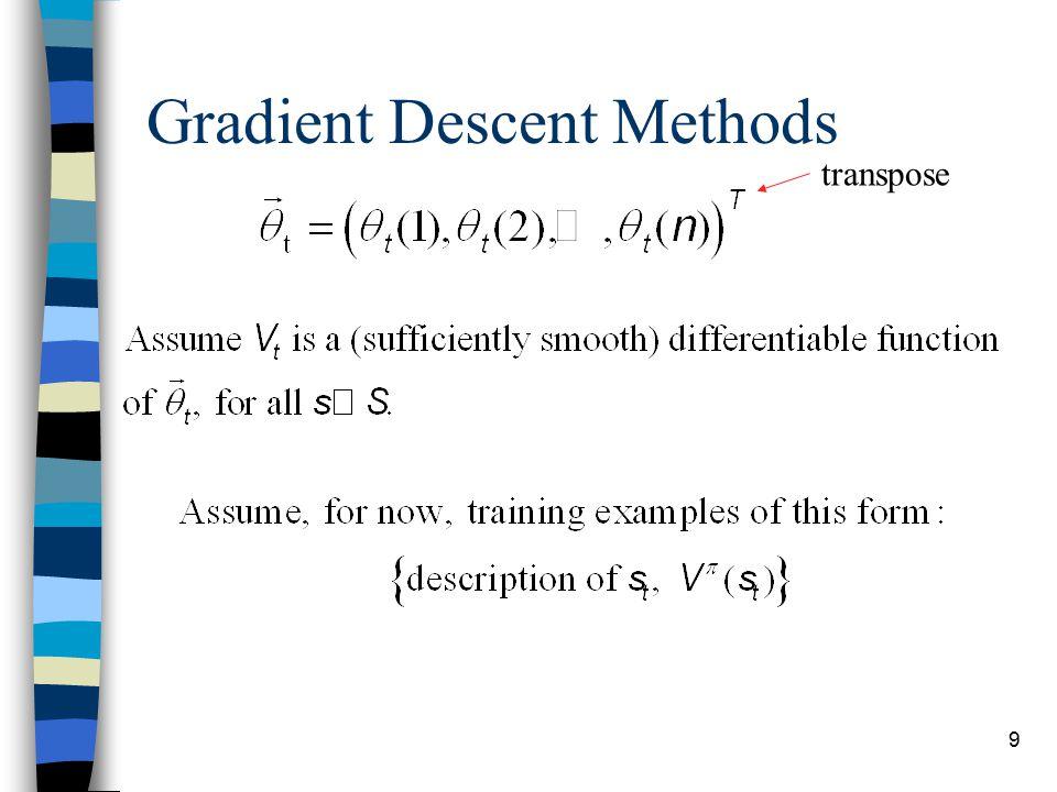 9 Gradient Descent Methods transpose