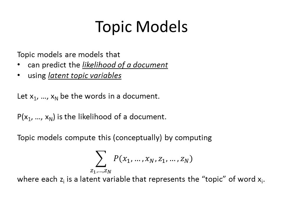 Topic Models