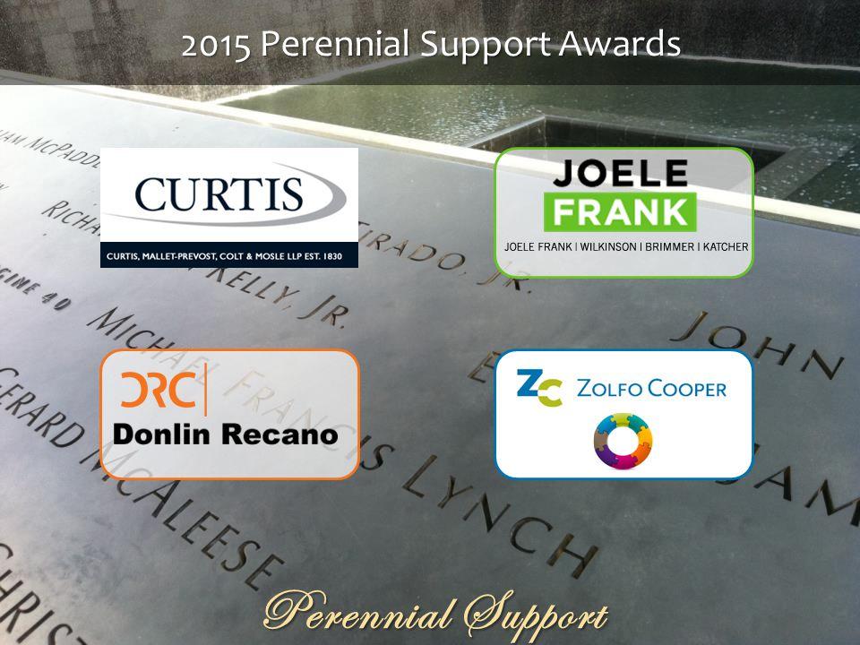 Perennial Support 2015 Perennial Support Awards