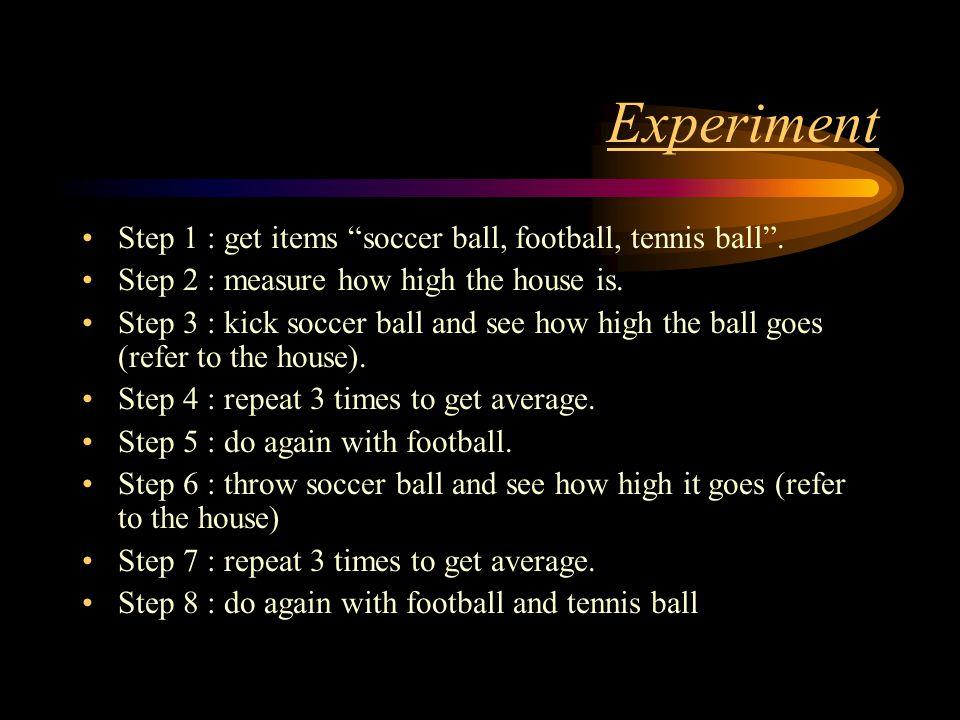 Materials Soccer ball Football Tennis ball