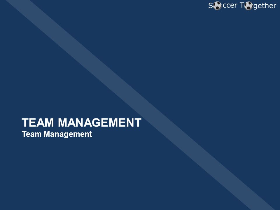 TEAM MANAGEMENT Team Management
