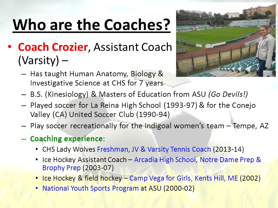 Who are the Coaches.