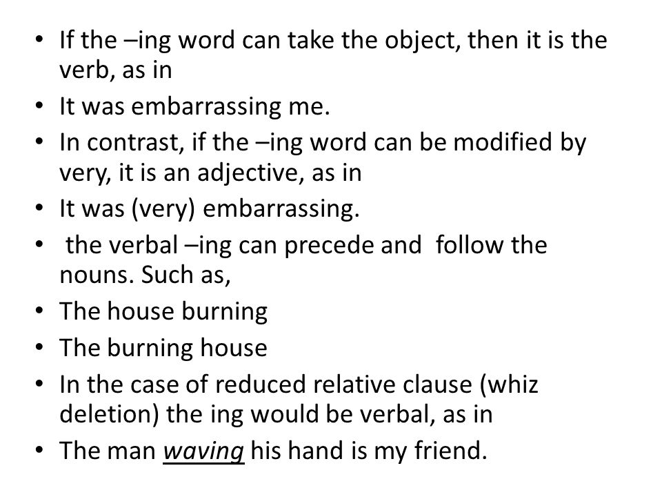 Exercises Identify the type of the suffixes at the end of the following underlined words.