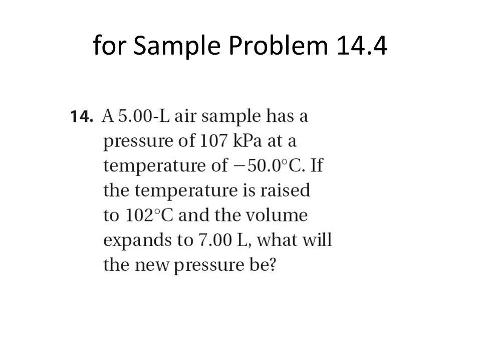 for Sample Problem 14.4