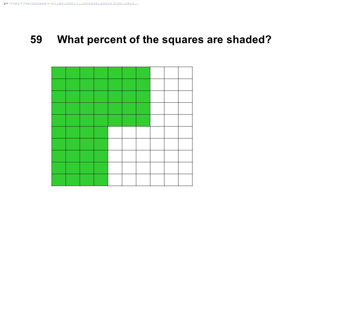 59What percent of the squares are shaded