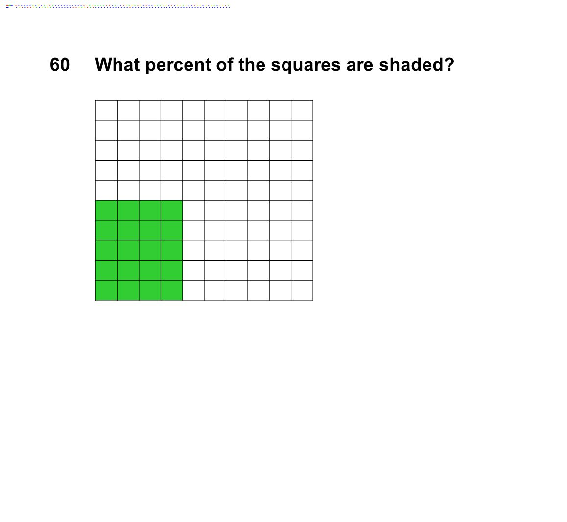 60What percent of the squares are shaded