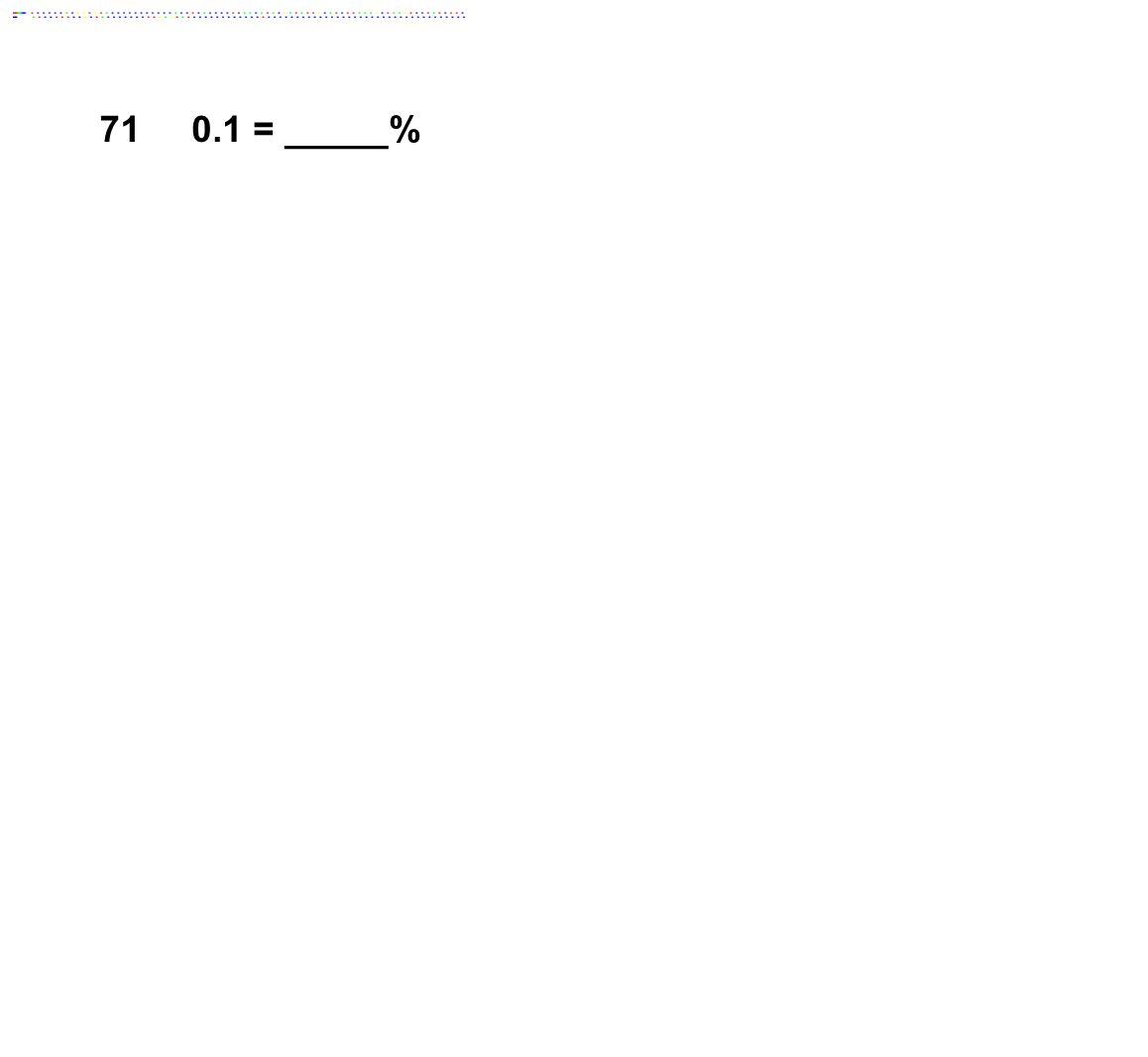 710.1 = _____%
