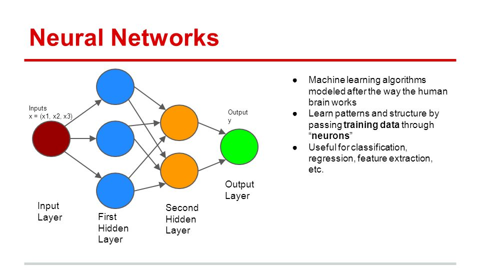 Deep Learning ●Neural networks with lots of hidden layers (hundreds) ●State of the art for machine translation, facial recognition, text classification, speech recognition o Tasks with real deep structure, that humans do automatically but computers struggle with o Should be good for company tagging!