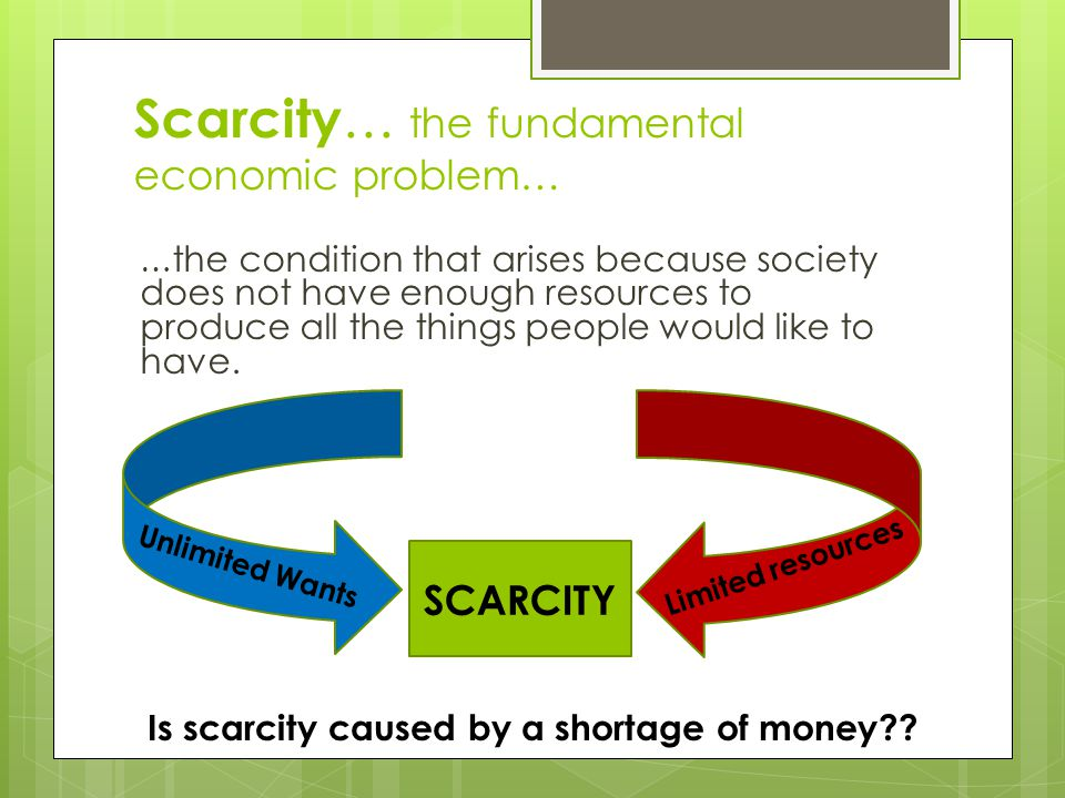 Warm Up #11 - Scarcity  How does scarcity affect your life.