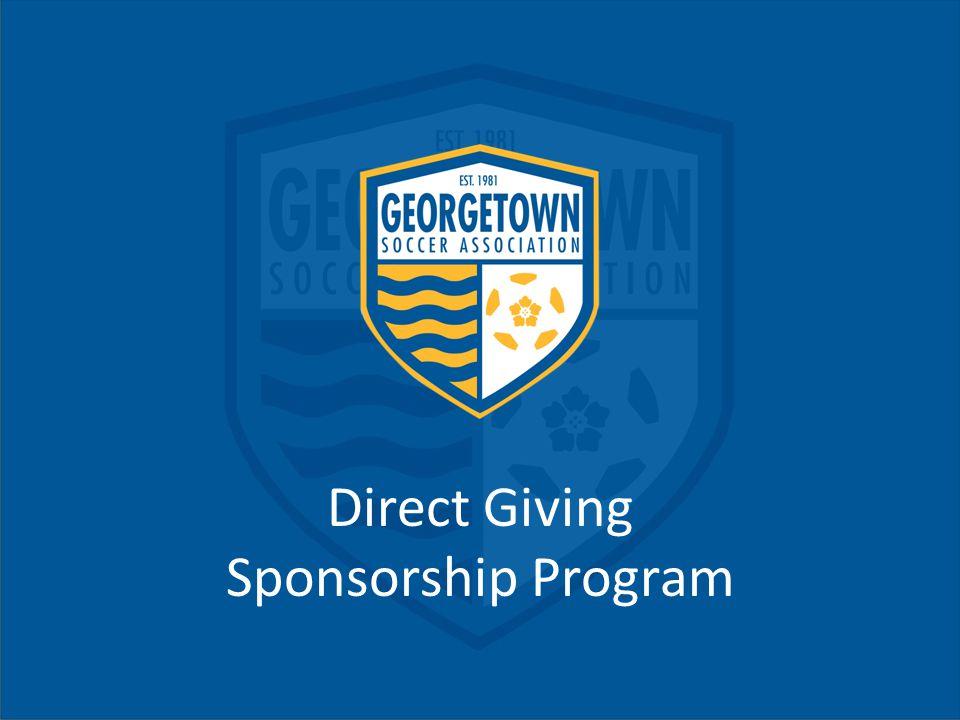 Direct Giving Sponsorship Program