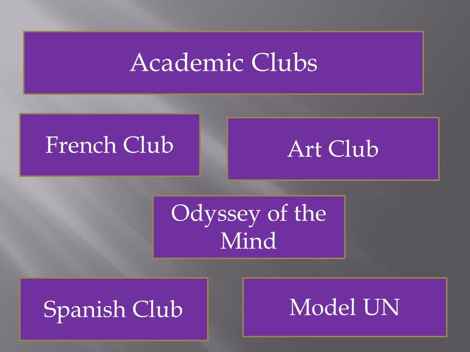 Clubs Academic Clubs Social Clubs Service Clubs
