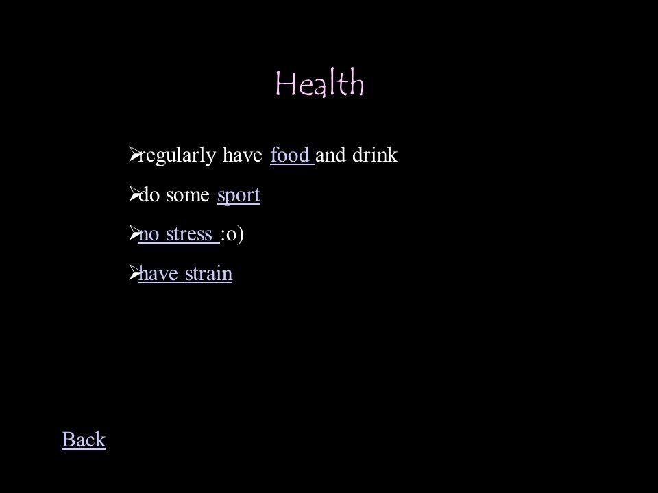 Health Unhealth Health Back