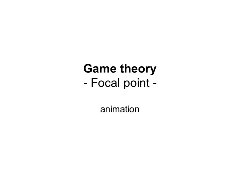 Game theory - Focal point - animation