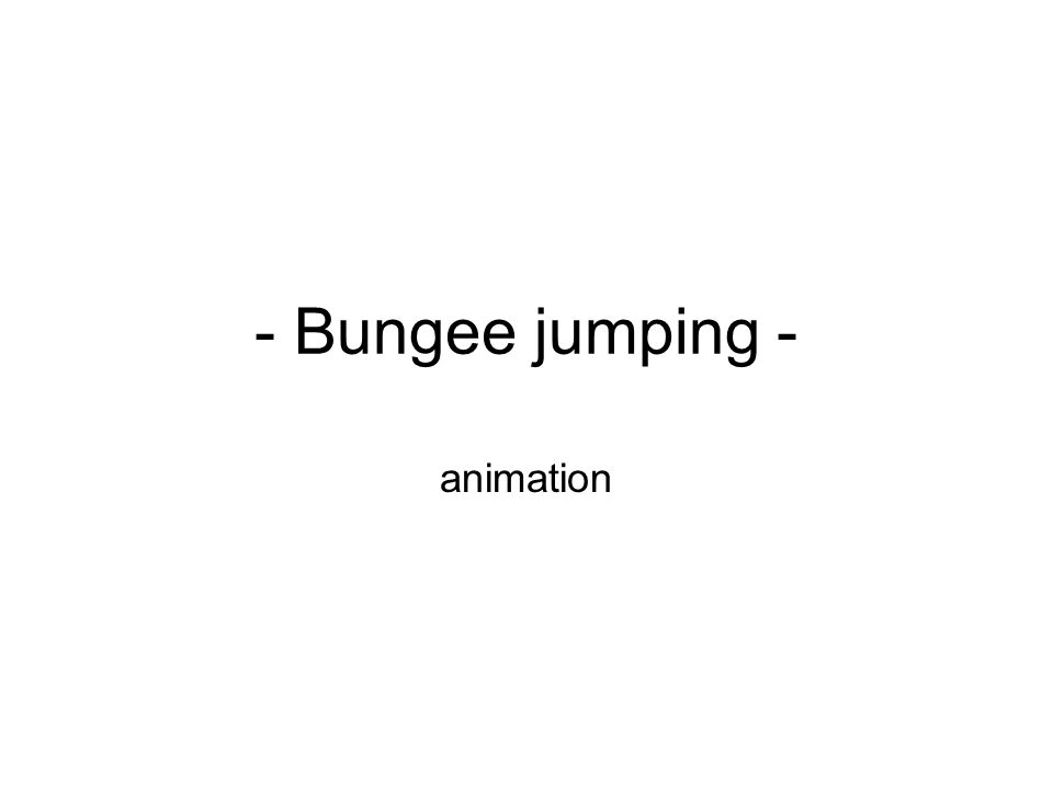 - Bungee jumping - animation