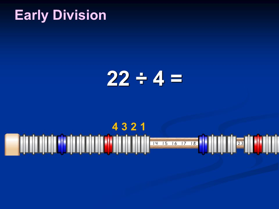 22 ÷ 4 = 22 ÷ 4 = Early Division 1234