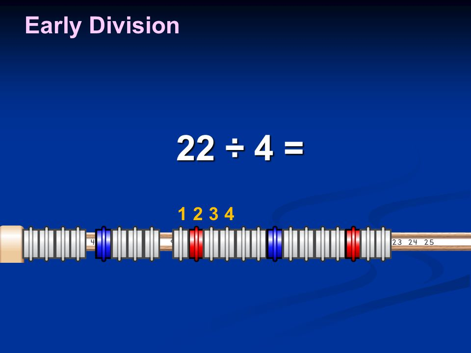 Early Division 1234 22 ÷ 4 = 22 ÷ 4 =