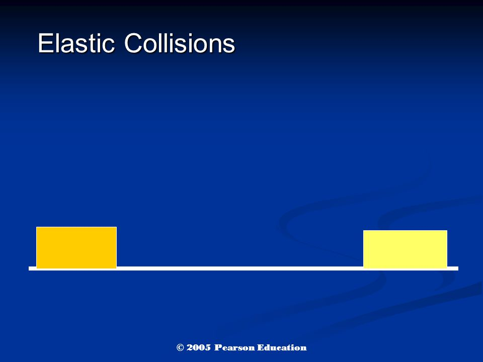 Elastic Collisions © 2005 Pearson Education