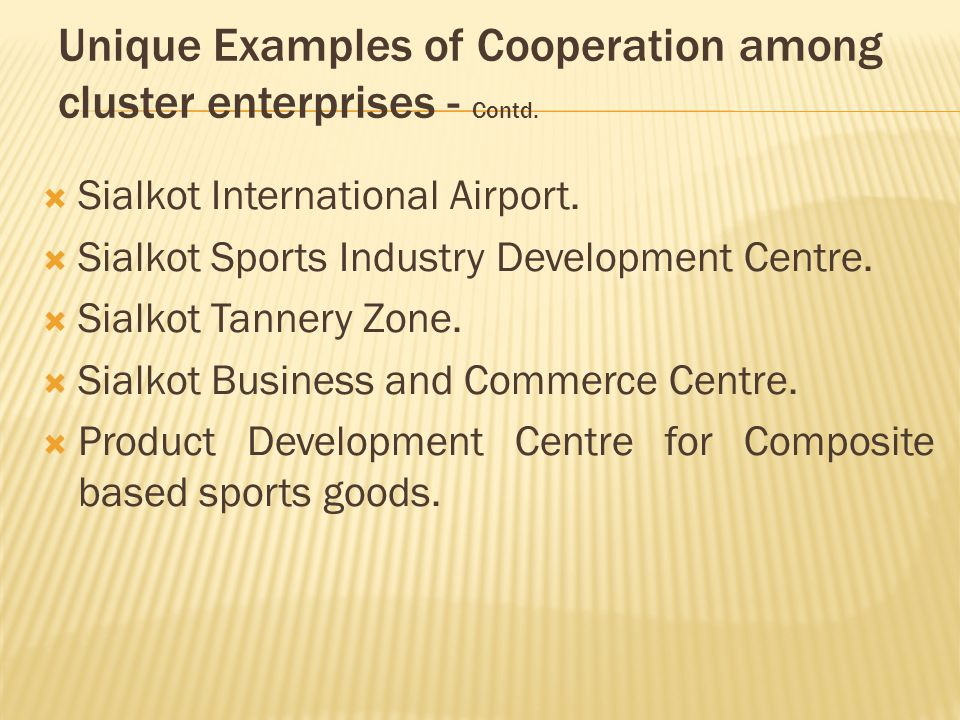  Sialkot International Airport.  Sialkot Sports Industry Development Centre.