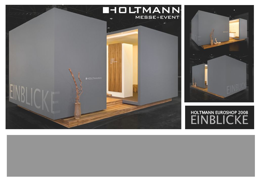 Holtmann Messe + Event Impressions Philosophy Milestones People Facts Business Activities References Network & Commitment Contact Holtmann Messe + Event GmbH An exhibition booth or event brings a company onto the public area.