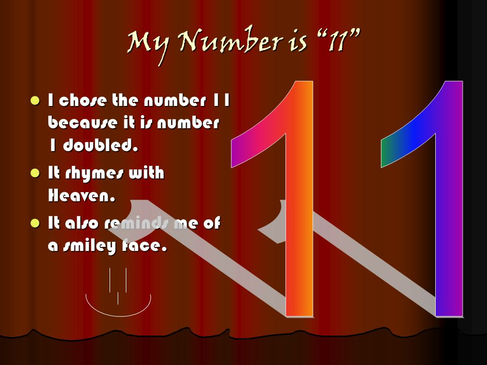 My special number 11 By: Katelyn Ngooi