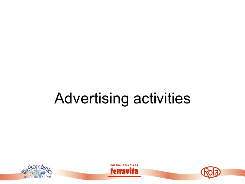 Advertising activities