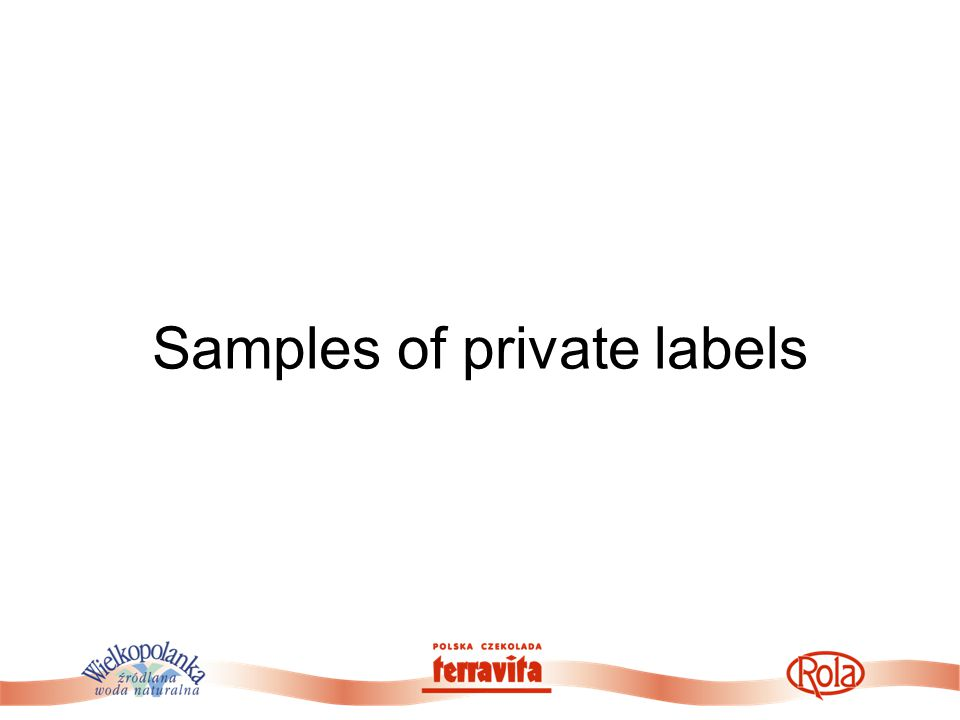 Samples of private labels