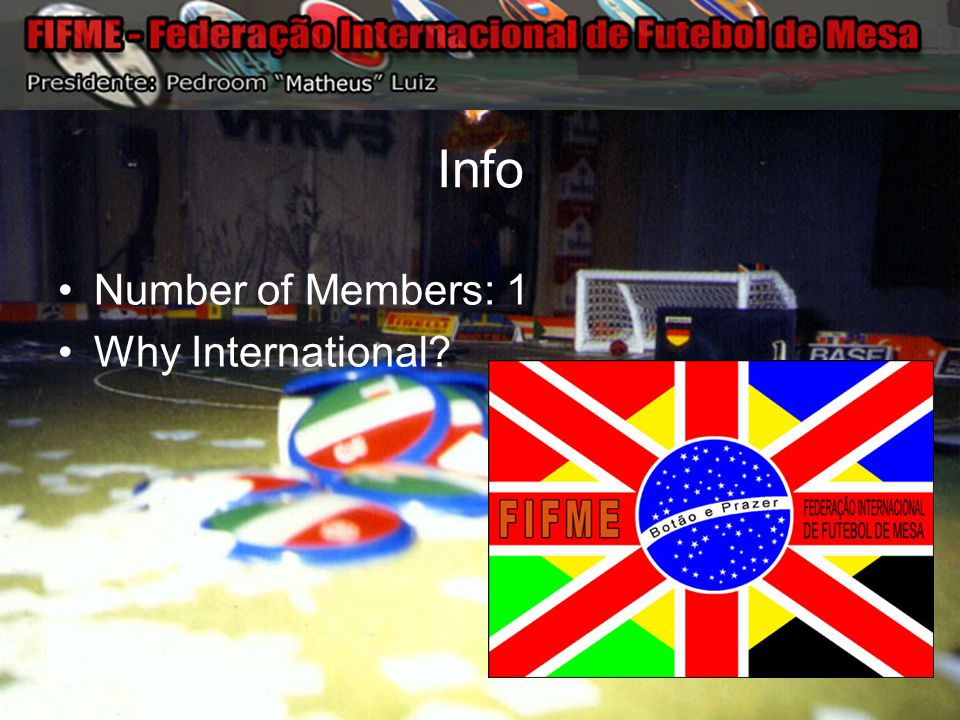Info Number of Members: 1 Why International?