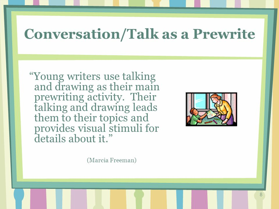 18 Conversations are Critical Amount of high-level student talk correlates with reading and writing achievement.