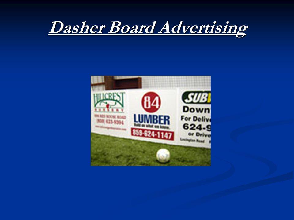 Dasher Board Advertising